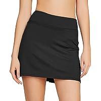 Westkun Women's Basic Golf Underneath Short Skort Black Ladies Tennis Skirt Running Fashion Plus Size 16 14 with Pockets…