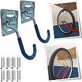 Parpyon® Porta biciclette da muro gancio bici muro, portabici da tetto, porta bici, porta attrezzi da parete, porta biciclett