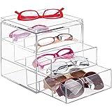 mDesign - Presentatiedoos voor brillen - brillendoos/opbergbox - met 3 gescheiden lades/met ruimte voor maximaal 9 brillen -