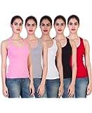Vansh Online Shop Women's Cotton Camisole Combo Pack