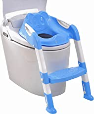 TIED RIBBONS 2 In 1 Training Foldable Ladder Potty Toilet Seat for Kids (Blue)