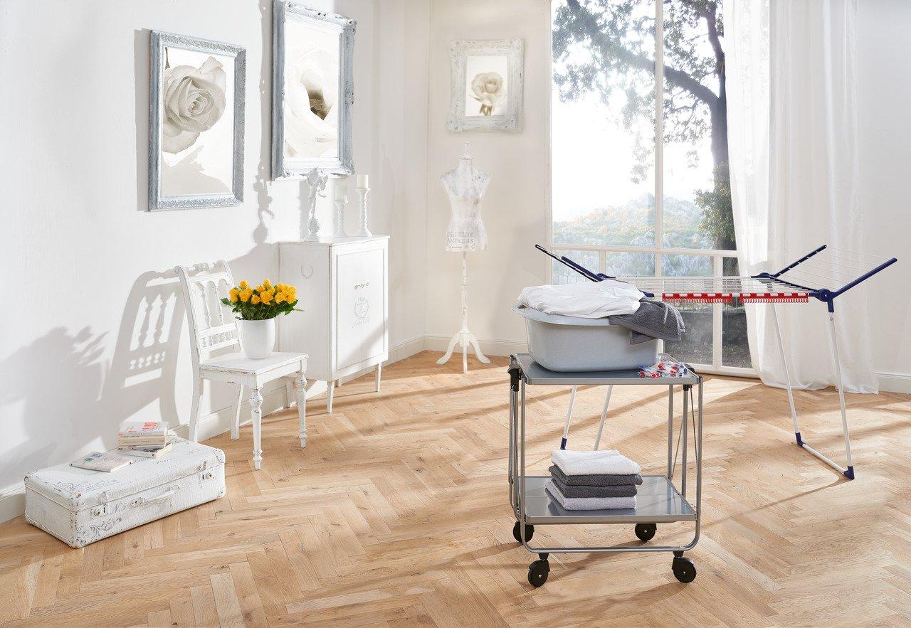 Leifheit Carrello Portavivande da Cucina, Pieghevole, Grigio | CasaMe