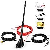 DAB antenne autoantenne SMB-adapter, boosterversterker met 5 m verlengkabel voor FM AM/DAB + Radio Pioneer, Blaupunkt, Clario