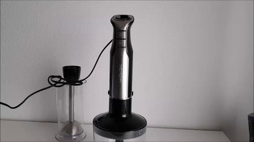 Medion MD 17457 - Batidora picadora manual, 600 vatios, control de velocidad continuo,lazo colgante, color plateado y negro: Amazon.es: Hogar