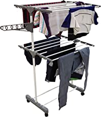 INDISWAN Space Saving 2 Layer Rust Proof Cloth Drying Stand