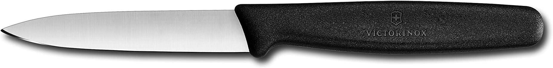 Victorinox Cutlery 3.25-Inch Paring Knife, Small Black Polypropylene Handle