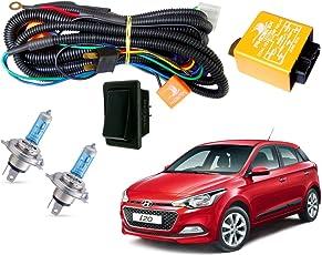 Autopearl Halogen Headlamp Wiring Harness Kit for Hyundai I20 Elite (Set of 3)