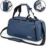 Cysili - Bolsa de viaje con bolsa de deporte y mochila, equipaje de mano con compartimento para zapatos, compartimento para r