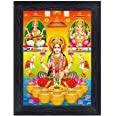 PnF Diwali Puja (laxmiji, Ganeshji,Saraswatiji) Religious Wood Photo Frames with Acrylic Sheet (Glass) for Worship/Pooja(phot