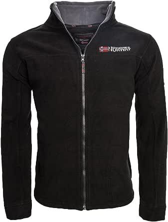 Geographical Norway Warm Men's Fleece Winter Transition Jacket, Outdoor Sweat