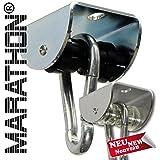MARATHON Rollengelenk - lautloser Schaukelhaken und Schaukelgelenk mit Kugellager für Hängesessel, Schaukeln und Hängematten