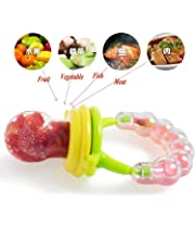 Honey Boo BPA-Free Silicone Food Nibbler for Fruit and Veggie with Rattle Handle (Multicolour, 6-12 Months) (TEETHER 1)