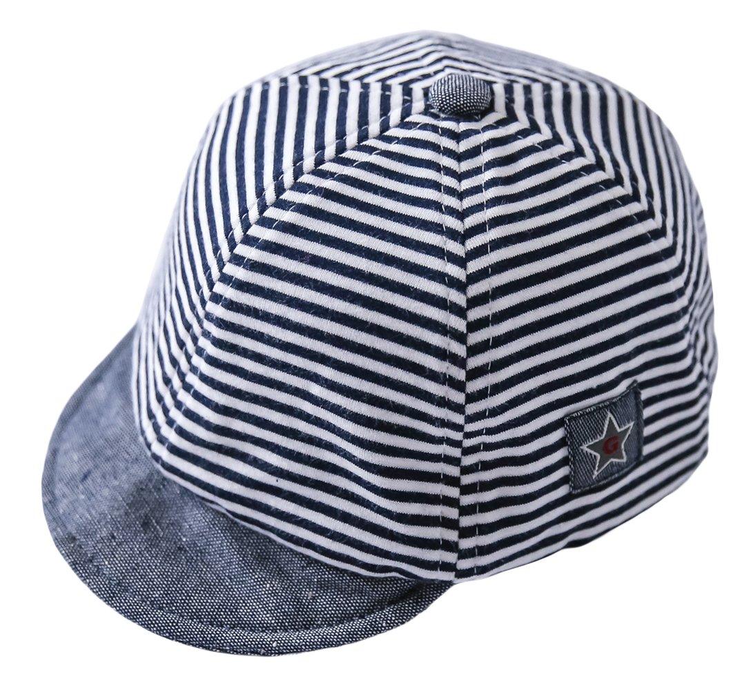 Cloud Kids - Sombrero para bebé o niña, protección contra el sol, diseño de rayas, estrellas, verano y sol 1