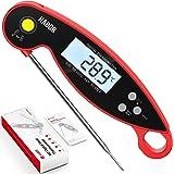 Homasy Termometro da Cucina, 2-3S Lettura Istantanea, IPX6 Impermeabile, LCD Schermo Ruotabile, Termometro per Carne BBQ Vino