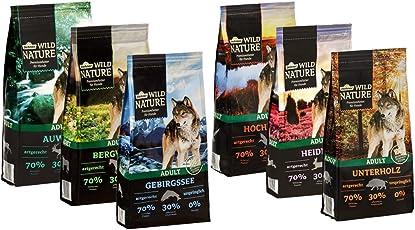 Dehner Wild Nature Hundetrockenfutter Probier-Set Adult, 6 Verschiedene Sorten, je 1 kg (6 kg)