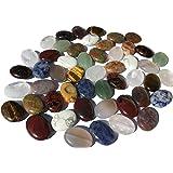 Mix di grandi pietre semipreziose e perlacee, 48 pezzi 18 mm ovali pietre curative gemme pietre preziose pietre perlacee perl
