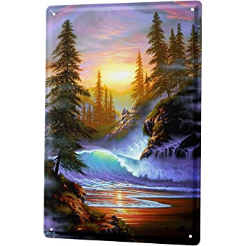 Tin Sign Decoration Holiday Travel Agency Chicago Metal Wall Plate 8X12