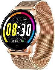 Smartwatch Donna Cinturino in metallo Ciclo fisiologico femminile IP67 Impermeabile Cardiofrequenzimetro Contapassi Calorie