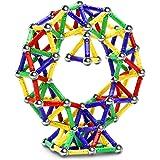 Jvchengxi 144PCS Palos Magnéticos, Bloques Magnéticos de Construcción Palos, Juguetes Educativos Set para Adultos y Niños (Ma