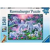 Ravensburger - 10021 7 - Puzzle - Licornes Au Coucher de Soleil - 150 Pièces