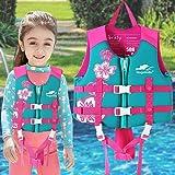 Simväst för barn, simjacka för baby, flytväst flytväst flytväst flytväst flytväst badkläder med justerbar säkerhetsrem lämpli