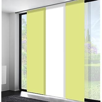 Flächenvorhang Schiebegardine Schiebevorhang Gardine Vorhang transparent #5033