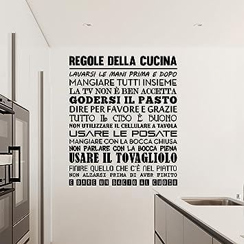 Adesiviamo 1480 m regole della cucina wall sticker adesivo da muro ...