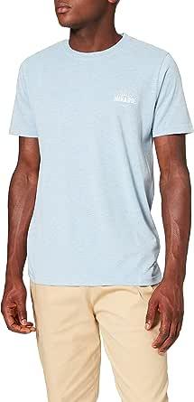 HIKARO Herren leicht meliertes T-Shirt mit Logo
