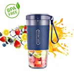 Portable Blender, Cordless Personal Blender Juicer, Mini Mixer, Waterproof Smoothie Blender With USB Rechargeable, BPA...