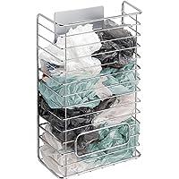 mDesign AFFIXX Meuble de Rangement Sacs Plastique – Support métallique adhésif pour Sacs Plastique – Panier de Rangement…