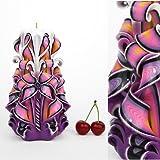 Candela - Idea regalo di compleanno per le donne e per gli uomini Giorno del padre - Decorazione in legno intagliata a mano -