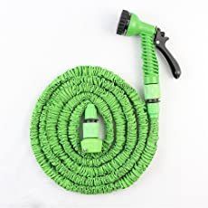 Mix Cart Expandable Hose Pipe Nozzle for Garden Wash, Car, Bike with Spray Gun and 7 Adjustable Modes (50 Feet, Multicolour)