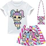 Baby Cute Dolls Confetti Pop Tshirt + Falda + Bolsa para niñas Lil Outrageous Little Girl Dress