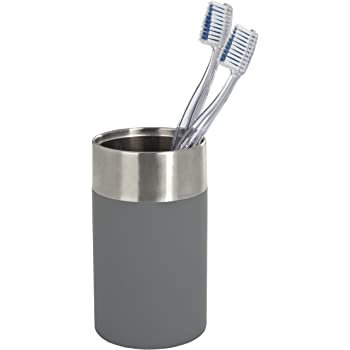 WENKO Zahnputzbecher Maison Grau Zahnpasta Becher Zahnbürstenhalter