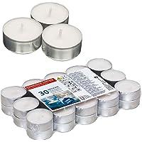 Smart Planet® Ambiente Lot de 30 bougies chauffe-plat Blanc Longue durée de combustion 30 bougies chauffe-plat en…