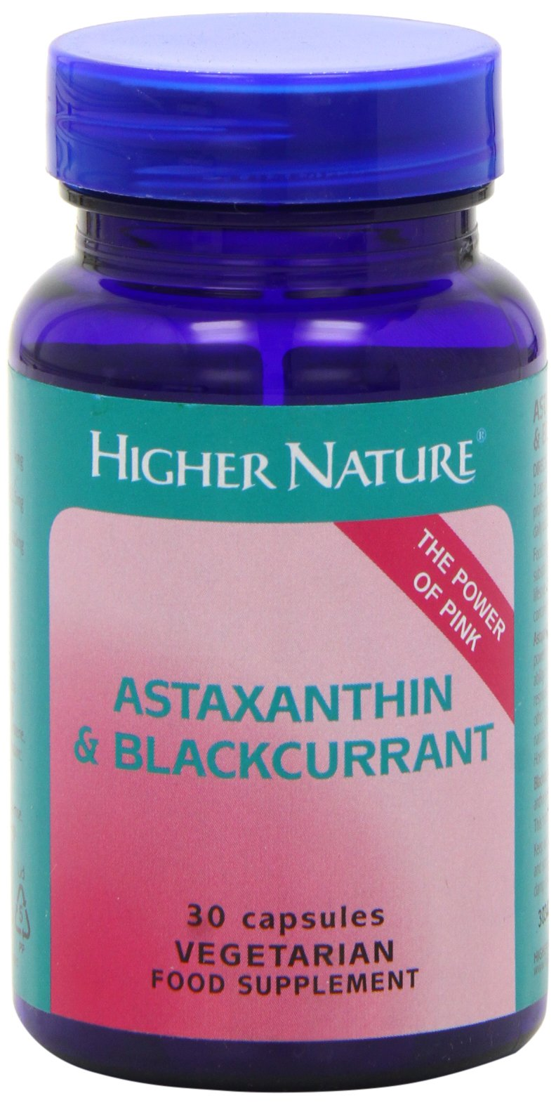 71IPMbzpjdL - Higher Nature Astaxanthin & Blackcurrant - 30 Capsules