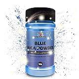 MENNYO Colori per Resina Epossidica, Colorante Candela 50g Colore Oceano Blu Pigmenti in Polvere di Mica Metallica Naturale p