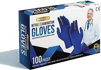 Mangalam Medikits De-Golve Nitrile Examination Gloves Powder Free Extra large Size Gloves (100 Pcs)