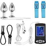 Neu !! Greenpinecone® Luxus Elektro Analplug Set 32 mm und 25 mm, Elektrosex Buttplug für Reizstromgerä, mit Penisring und Drähten