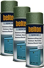3X KWASNY 323 005 Belton Special Hammerschlag-Lack Grün 400ml