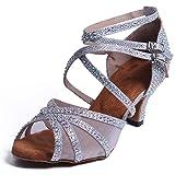 Syrads Womens Ballroom Latin Dance Shoes Salsa Kizomba Bachata Shoes Female Tango Samba Waltz Social Dance Shoes