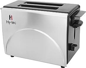 Hytec 2 Slice Stainless Steel 750 Watt Classic Manual Pop Up Toaster