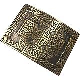 Mens Celtic Cross Knotwork Kilt Belt Buckle Antique Finish/Highland Kilt Belt Buckles/Scotish Kilt Belt Buckles