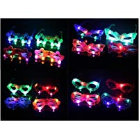 Gifts Online™ Birthday Return Gifts For Kids - Flashing Party LED Light Glasses - Set Of 6 - For Both Boys And Girls