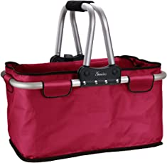 Genius Einkaufskorb | 25 kg | 26 l | Faltbar | Reißverschluss | Carry-Bag | Einkaufs-Tasche | Shopping-Bag | NEU