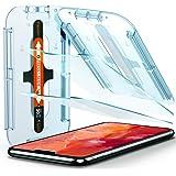 Spigen Glas.TR Ez Fit Vetro Temperato Compatibile con iPhone 11 PRO, iPhone XS, iPhone X, 2 Pezzi, Resistente ai Graffi, Dure