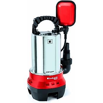 Einhell Pompe d'évacuation pour eaux chargées GH-DP 5225 N (520 W, Débit max. 10.000 l/h, Hauteur de refoulement 7 m, Profondeur d'immersion 5 m, Hauteur d'aspiration 40 mm)