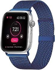 MouKou, Cinturini per Apple Watch Serie 5/4/3/2/1, 38 mm, 40 mm, 42 mm, 44 mm, Maglia milanese con Chiusura Magnetica, Cinturino di Ricambio in Acciaio Inox