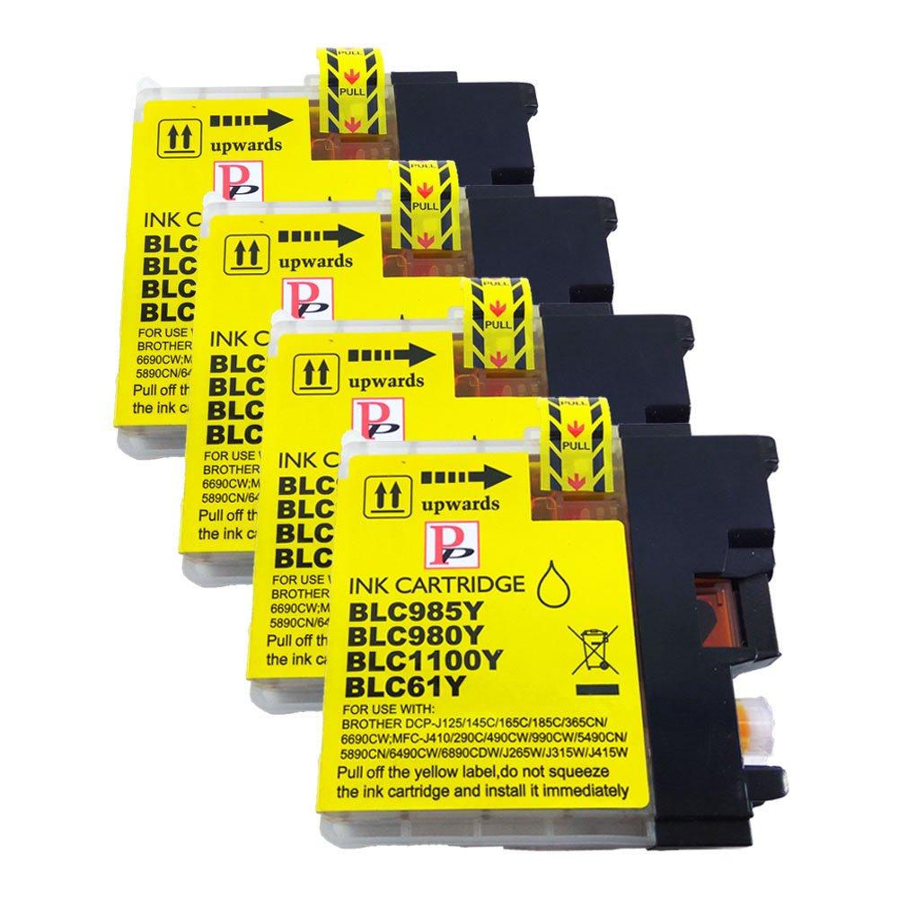 4�giallo compatibile cartuccia d' inchiostro sostituire LC985Y per Brother MFC J220�J265�W J410�J415