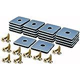 Filzada® 18x Almohadillas de Teflón para Muebles atornillar - 50 x 50 mm (cuadrado) - Deslizadores de muebles/deslizadores de